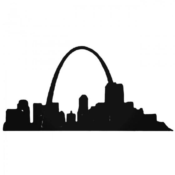 St Louis Arch Decal Sticker