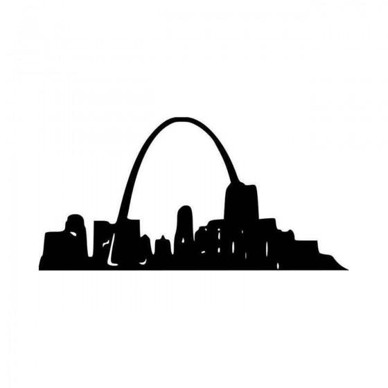 St Louis Arch Vinyl Decal...