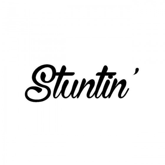 Stuntin Vinyl Decal Sticker