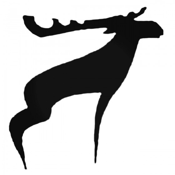 Stylish Moose Decal Sticker