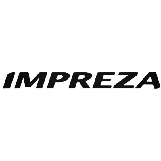 Subaru Impreza 2 Decal Sticker