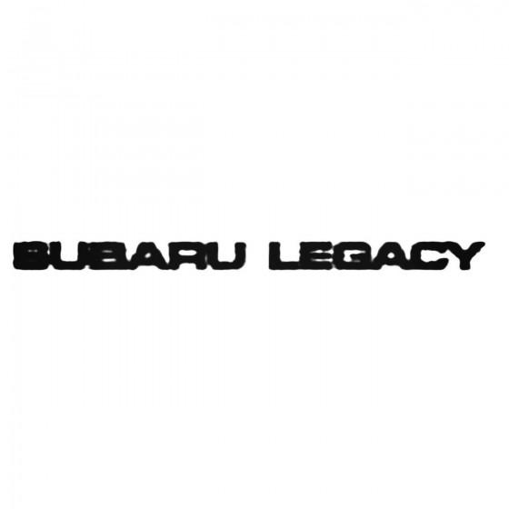 Subaru Legacy Decal Sticker