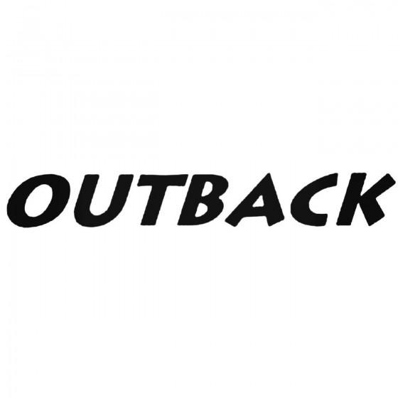 Subaru Outback 2 Decal Sticker