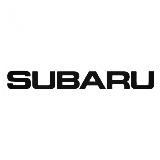 Subaru Windshield 1 Decal...