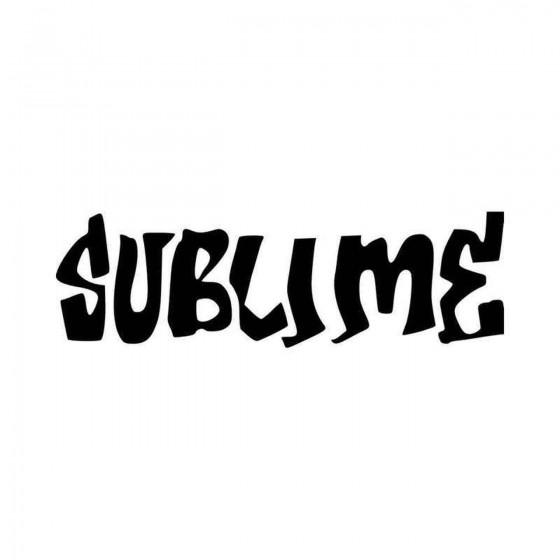 Sublime Logo Vinyl Decal...
