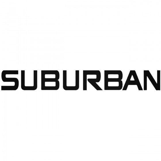 Suburban Graphic Decal Sticker