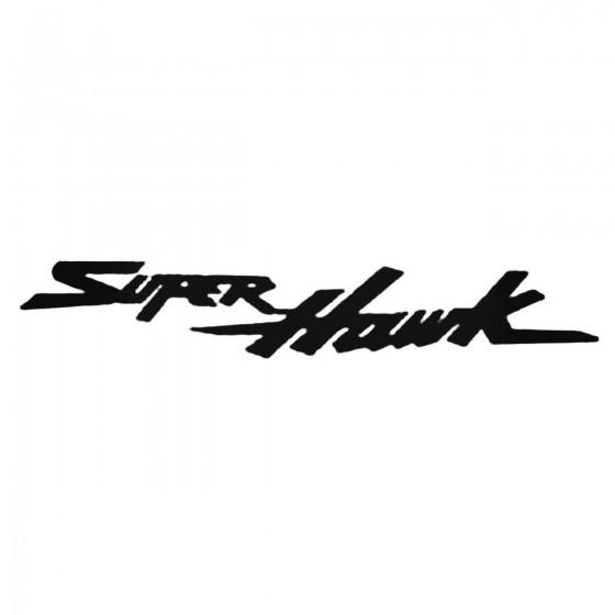Superhawk Decal Sticker