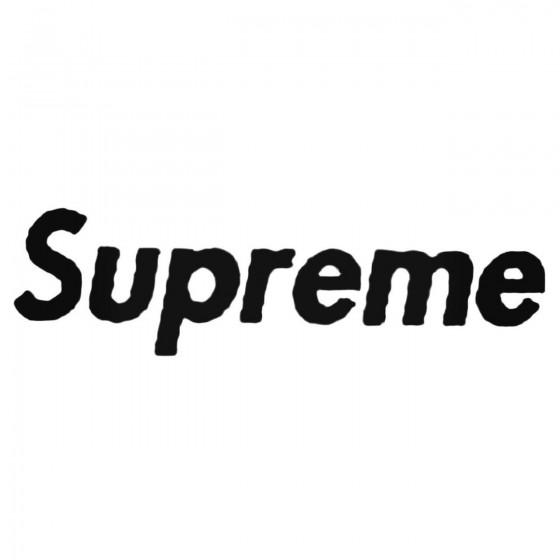 Supreme Decal Sticker