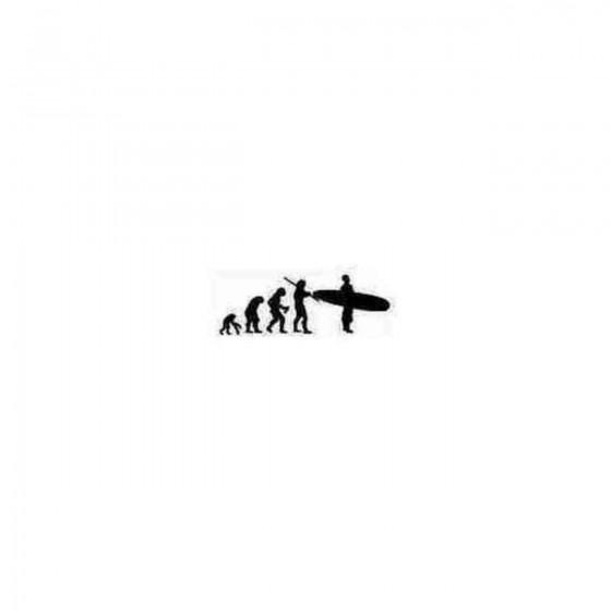 Surfer Evolution Decal Sticker