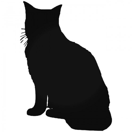 Tabby Cat Vinyl Decal Sticker