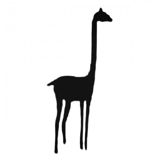 Tall Giraffe Decal Sticker