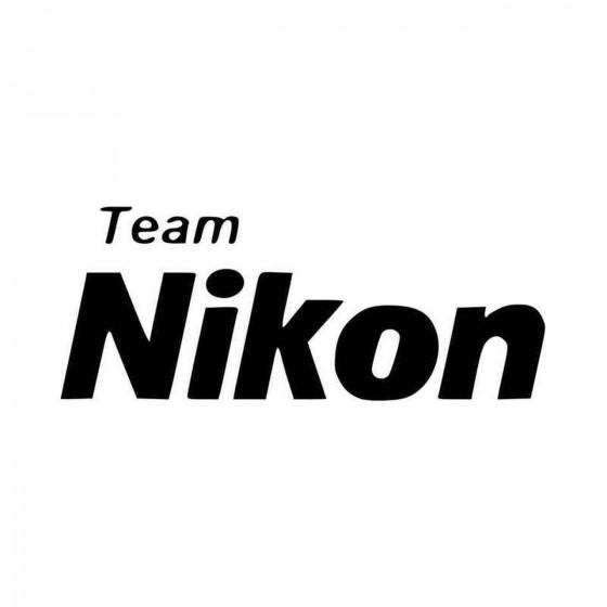 Team Nikon V Vinyl Decal...