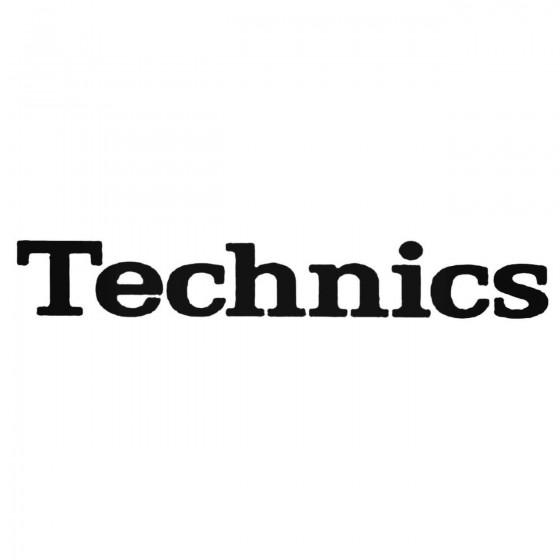 Technics Logo Decal Sticker