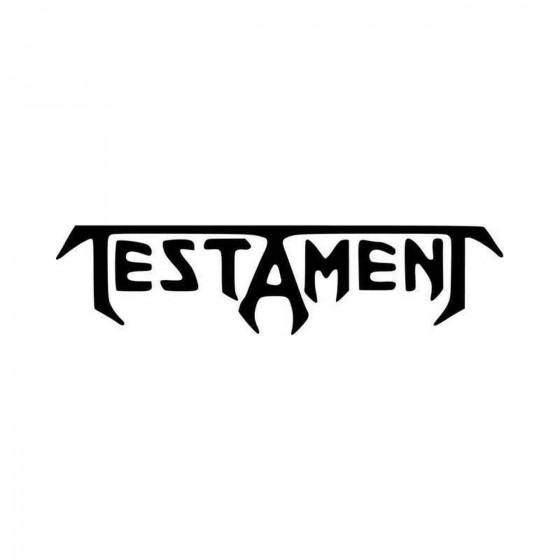 Testament Band Logo Vinyl...