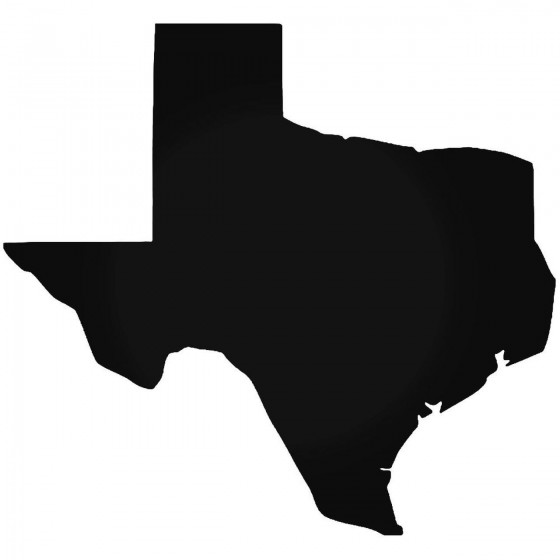 Texas State Map Vinyl Decal...