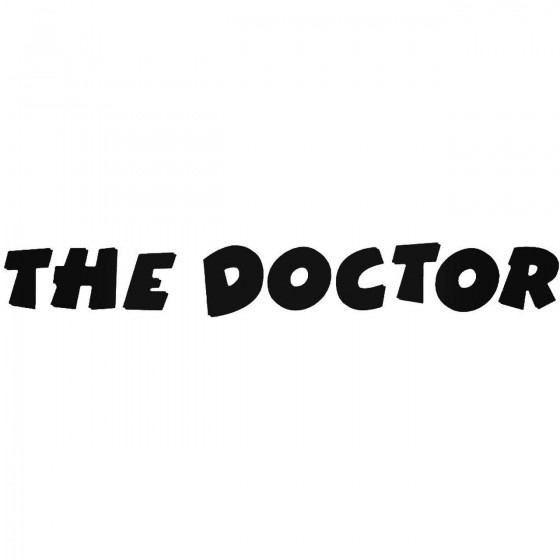 The Doctor 2 Decal Sticker 1