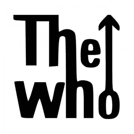 The Who Window Vinyl Decal...