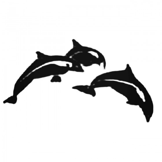 Three Dolphins Jumping...