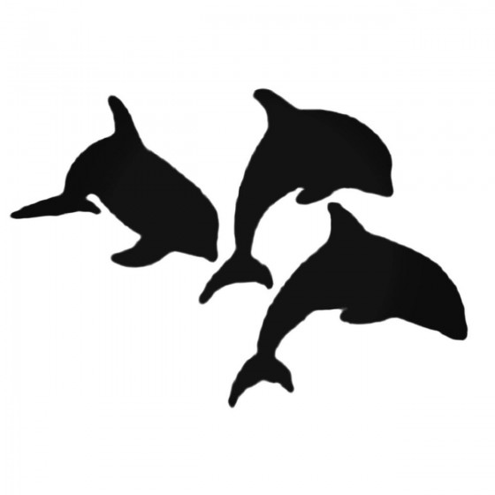 Three Dolphins Swimming...