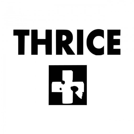 Thrice Vinyl Decal Sticker