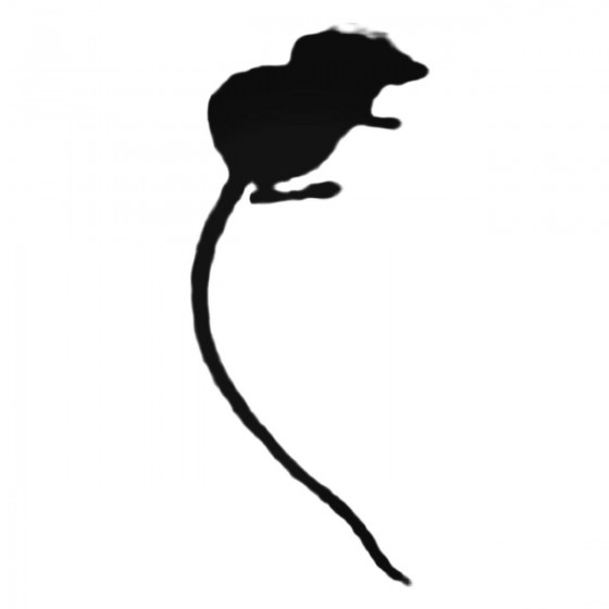 Tiny Fuzzy Mouse Decal Sticker