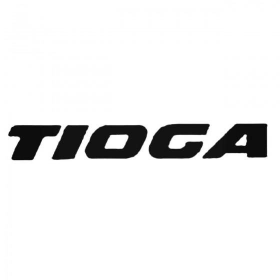 Tioga Text Decal Sticker