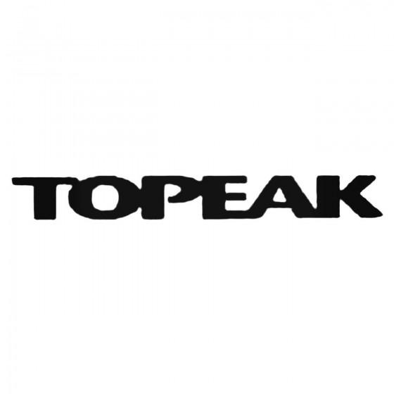 Topeak Text Decal Sticker