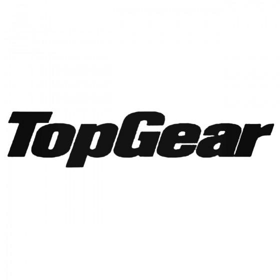 Topgear Decal Sticker