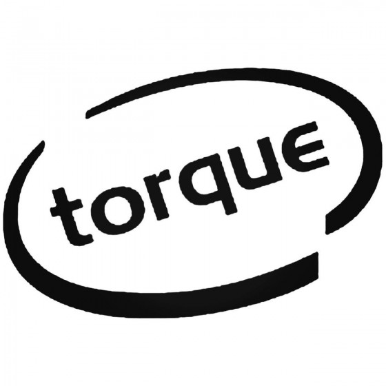 Torque Oval Decal Sticker