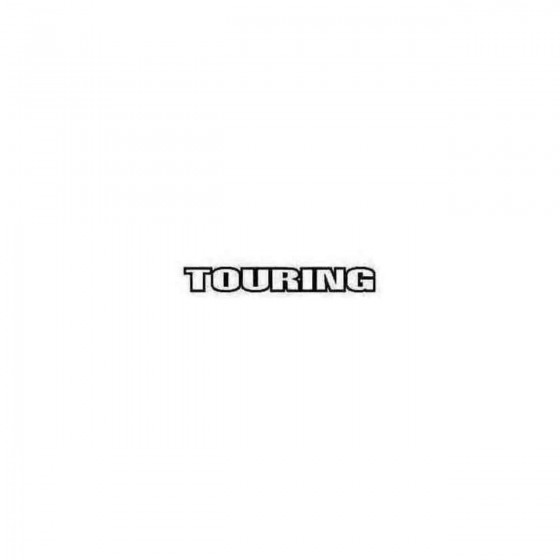 Touring Decal Sticker