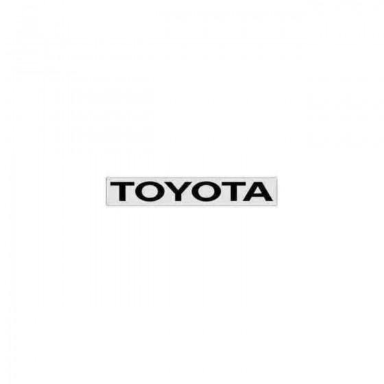 Toyota Windshield 1 Decal...