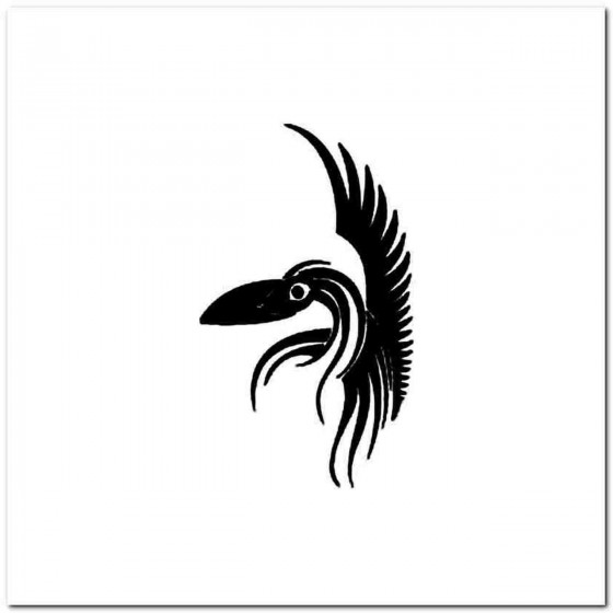Tribal Bird M Decal Sticker