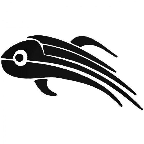 Tribal Fish O Decal Sticker