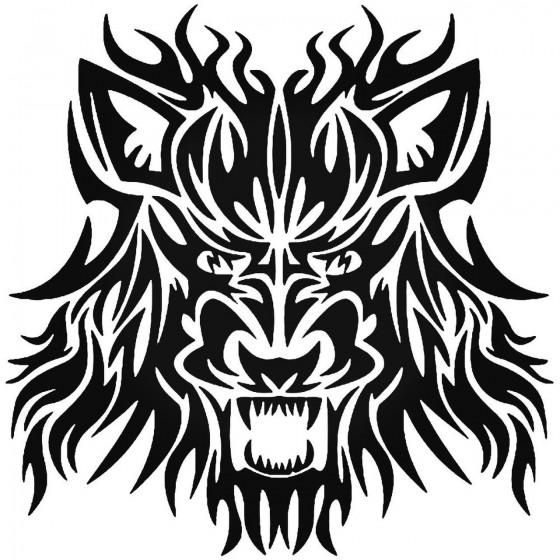 Tribal Wolf 3 Vinyl Decal...