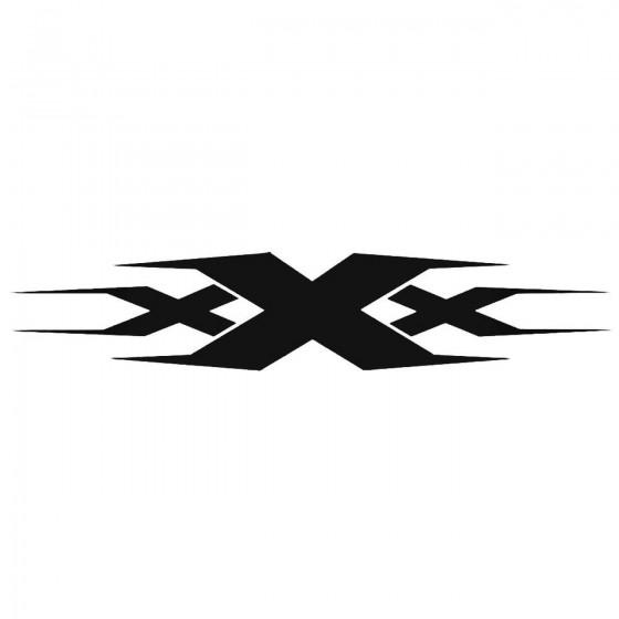 Triple X Decal Sticker