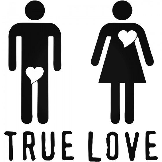 True Love Vinyl Decal Sticker