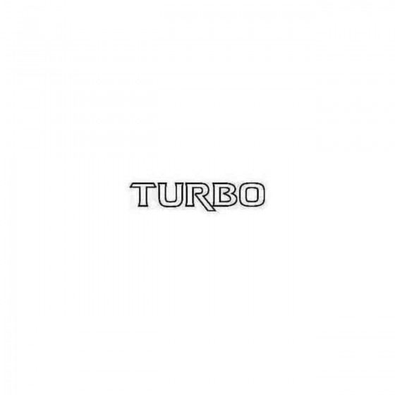 Turbo Decal Sticker