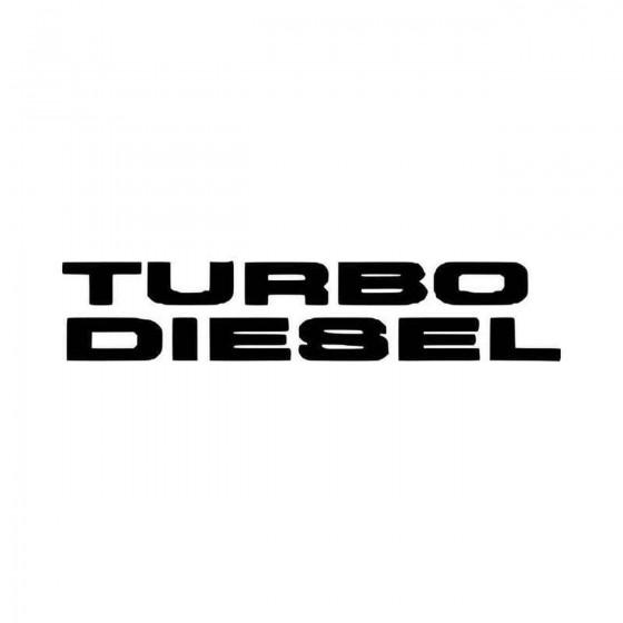 Turbo Sel Vinyl Decal Sticker