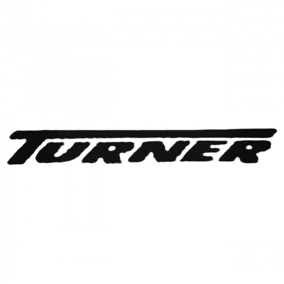 Turner Text Decal Sticker