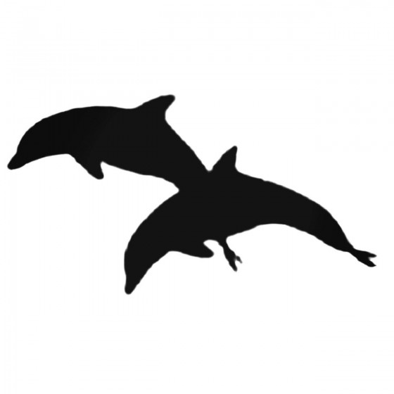 Two Dolphins Jumping Decal...