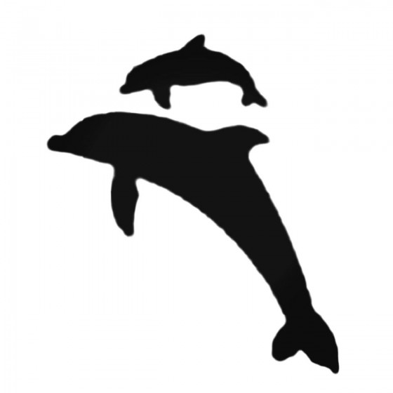 Two Dolphins One Baby Decal...