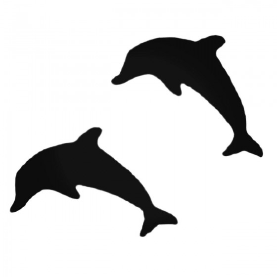 Two Dolphins Stricker Decal...
