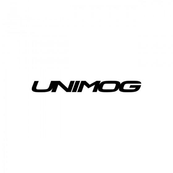 Unimog Texte Vinyl Decal...