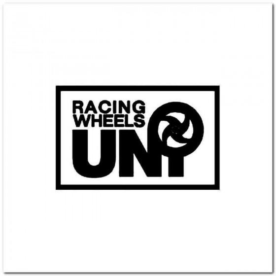 Uni Racing Wheels Vinyl Decal
