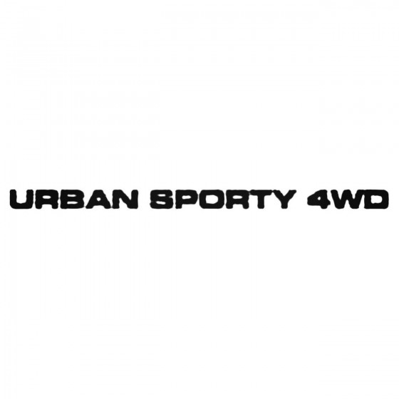 Urban Sporty 4wd Decal Sticker
