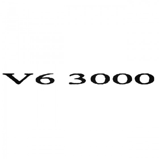 V6 3000 Decal Sticker