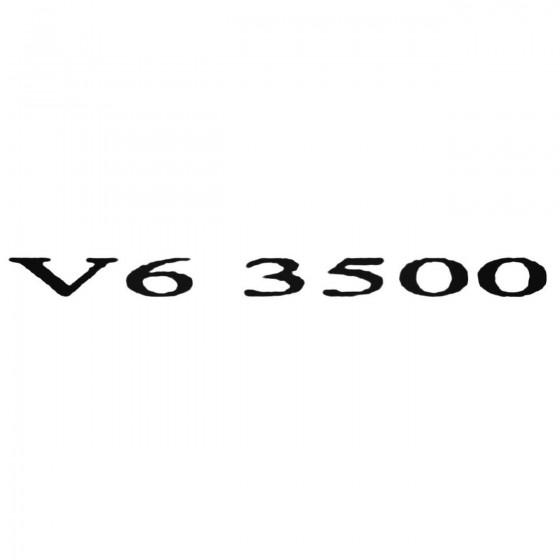 V6 3500 Decal Sticker