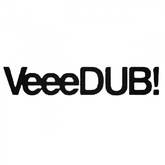 Veeedub Vdub Dub Decal Sticker