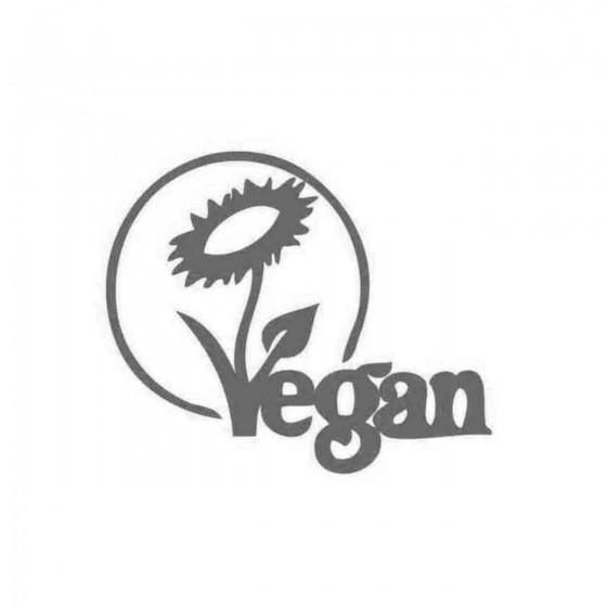 Vegan Sunflower Decal Sticker