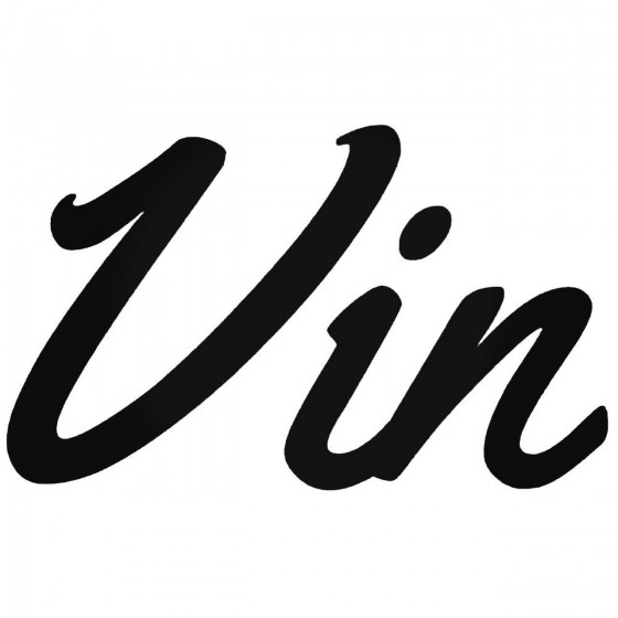 Vin French Wine Decal Sticker